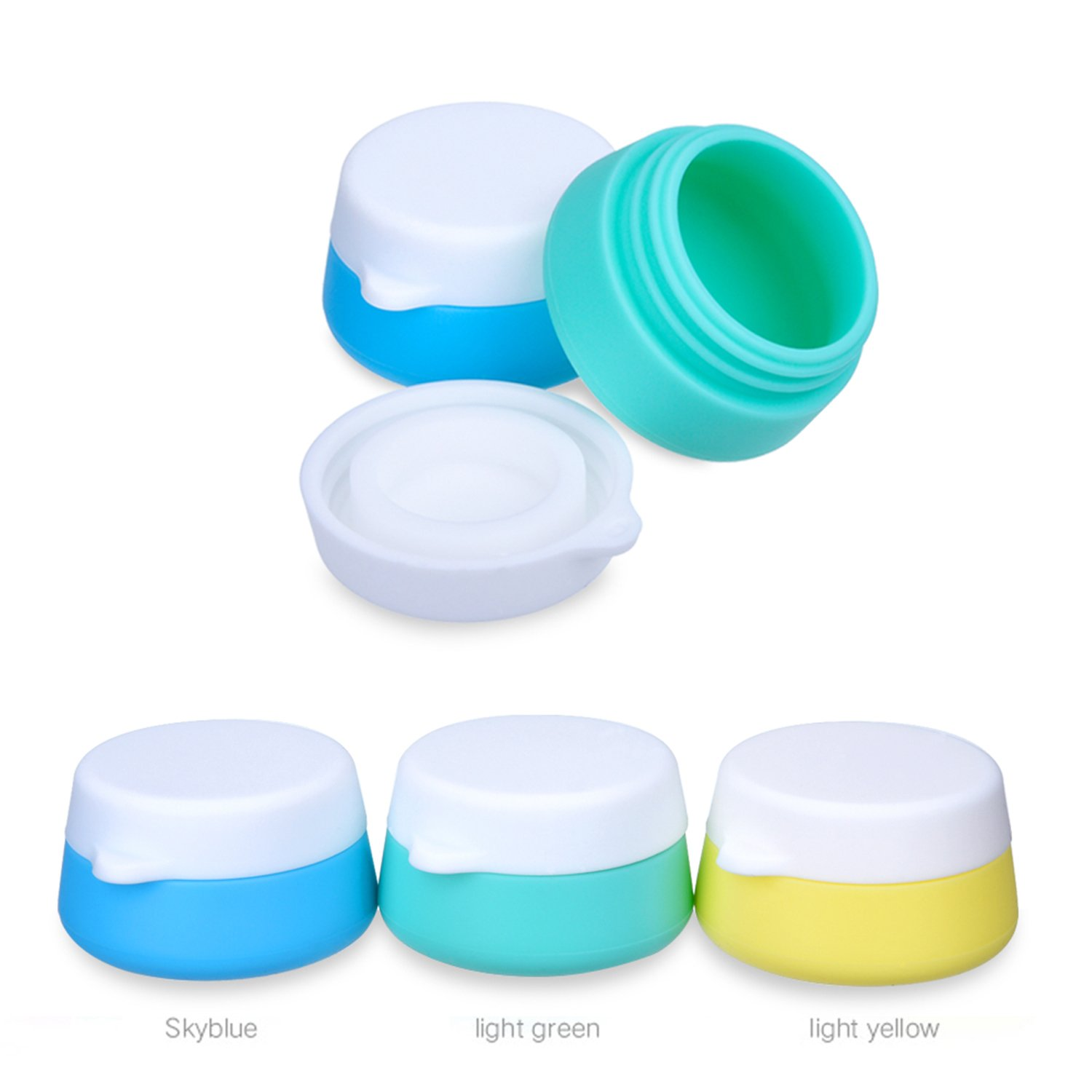Amazon.com : Mudder Silicone Cosmetic Containers Cream Jar with ...