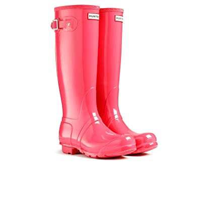 70082b295b7 Hunter Original Tall Gloss Wellington Boots ? Crimson Pink