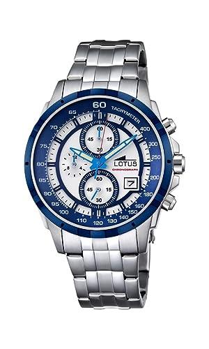Lotus Hombre Reloj de Pulsera analógico Cuarzo Acero Inoxidable 10130/1: LOTUS: Amazon.es: Relojes