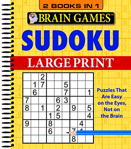 Brain Games - 2 Books in 1 - Sudoku (Large Print)