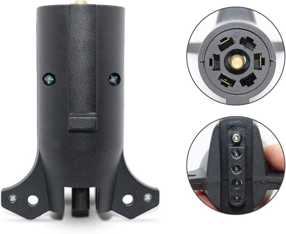 NEW SUN RV Heavy Duty 7 Way Blade to 5 Way Flat Towing Trailer Light Adapter Waterproof