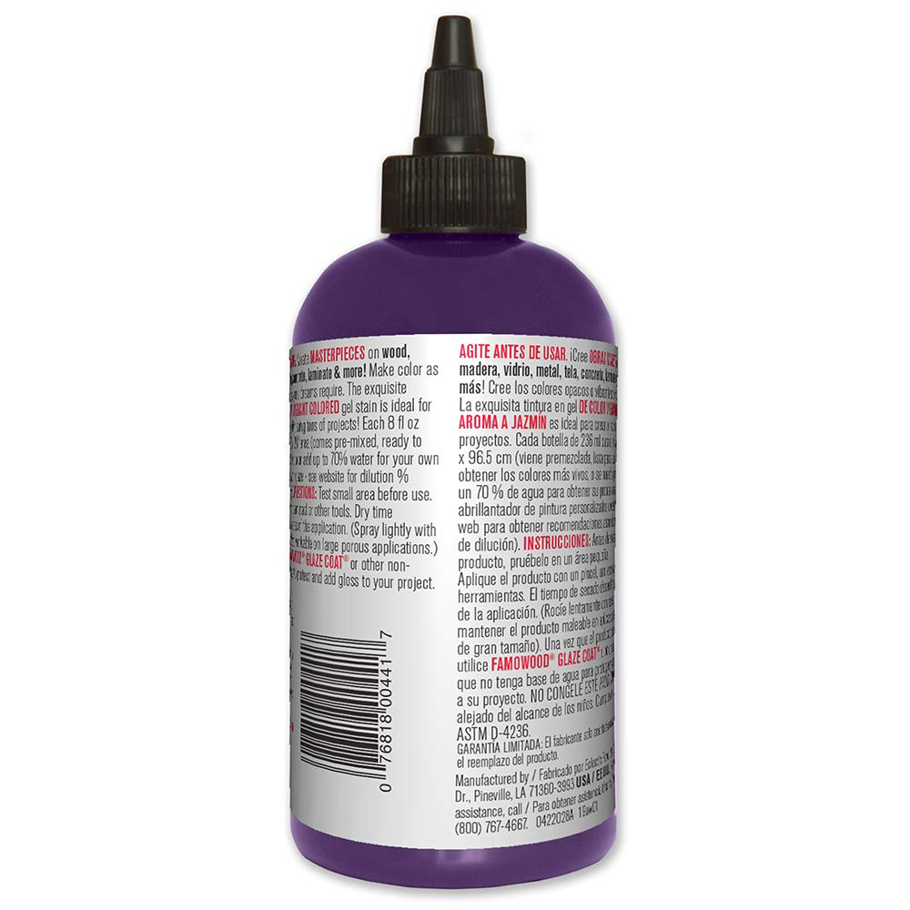 Amazon.com: Unicorn SPiT 5771009 Gel Stain and Glaze, Purple Hill Majesty 8.0 FL OZ Bottle: Home Improvement