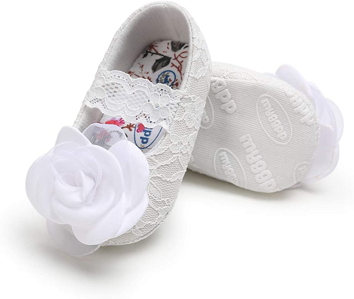 Sakuracn Baby Girls Mary Jane Flats Non-Slip Soft Soled Infant Toddler First Walkers Crib Shoes Princess Dress Shoes