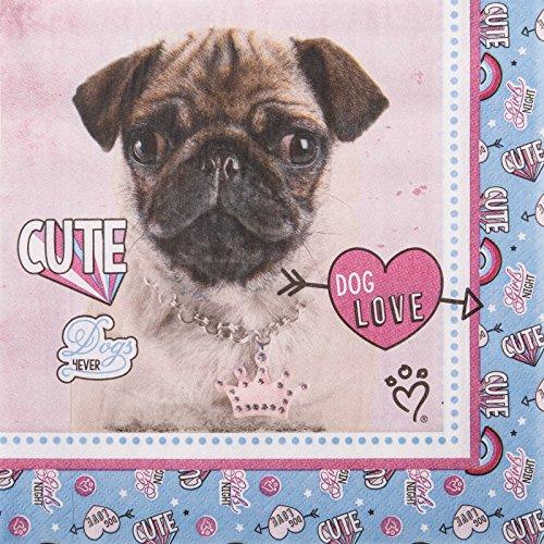 Love Lunch Napkins - BirthdayExpress Rachael Hale Party Supplies Dog Love Lunch Napkins (20)