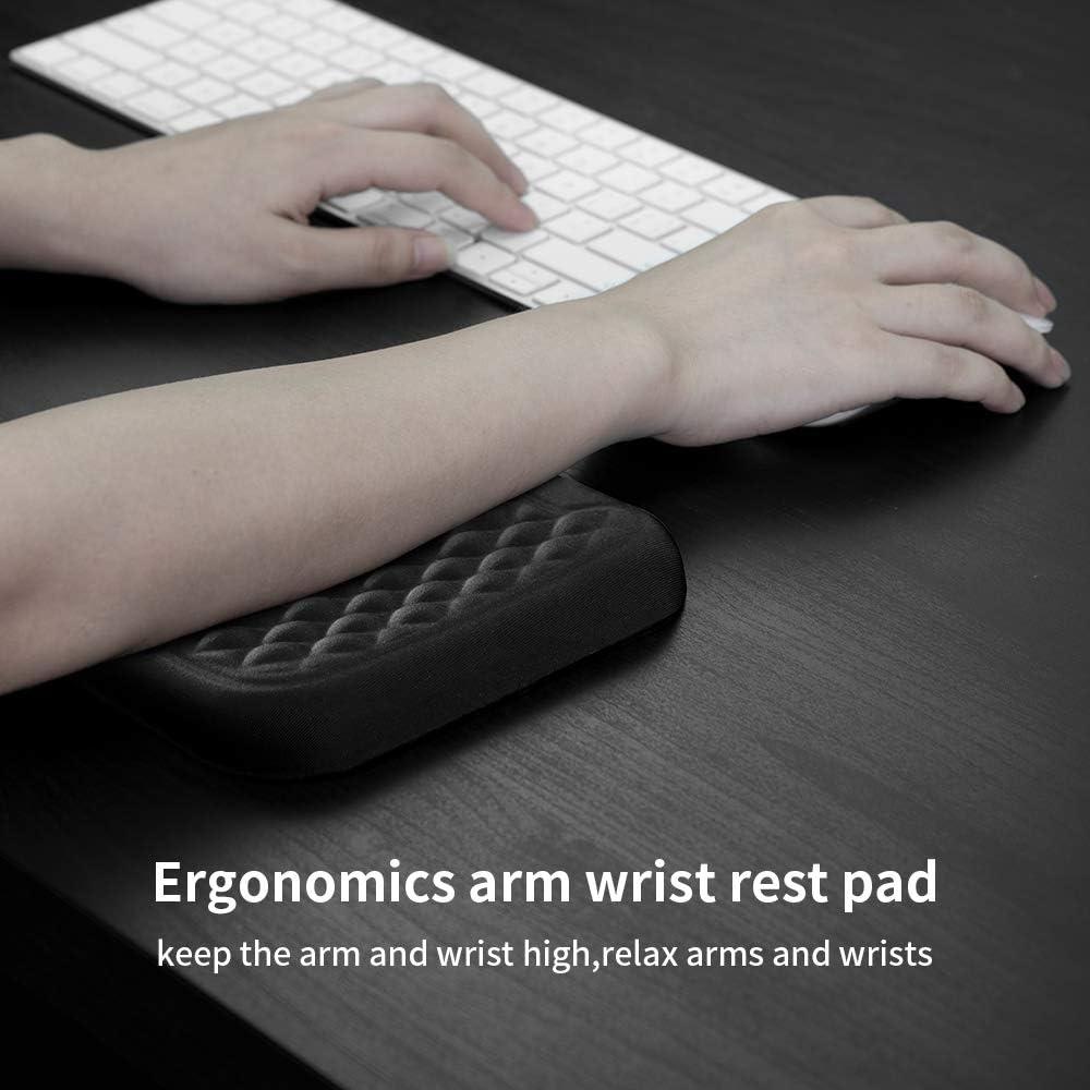 VAYDEER Ergonomic Wrist Rest Pad Armrest Pad Elbow Rest Pad,Prevent Hands BecameMouse Hand Relief Elbow Pain Computer Armrest Arm Wrist Rest Support Mouse Pad for Desk 6.34.30.76inches Black