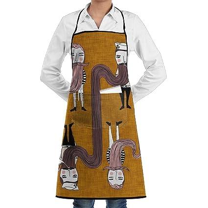 Tienda barba diseños Funny Chef delantales de cocina delantales tamaño 28,3 x 20,
