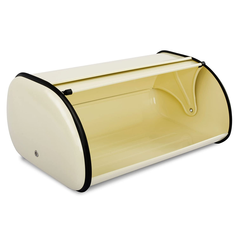 Brotbox mit Bel/üftungsl/öchern 3 Farben lebensmittelechte Brotaufbewahrung Creme casa pura/® Brotkasten Bernd