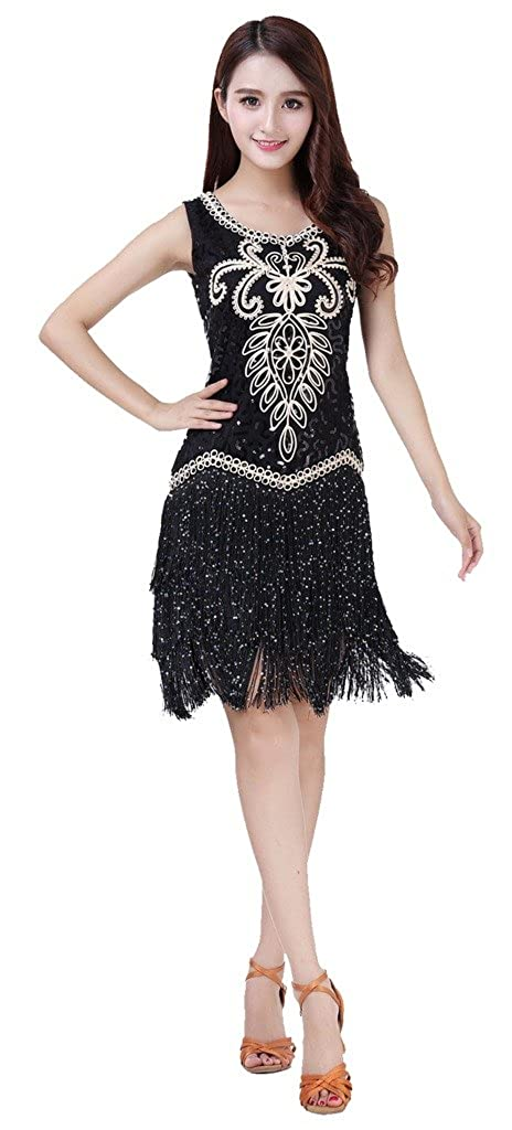 a8dbb68b2960 Feature:This is must a great costume for Party,Belly dance,Latin Dance/  Yoga class or performance etc. Fabric: Sequins Tassel Size:Free Size,skirt  about ...