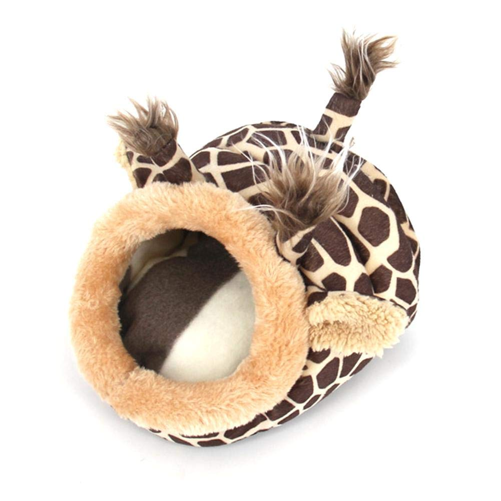 somedays Suave Felpa Mascota Cueva Mascota Cama Peque/ño Nido Animal Hamster Cama Mascota Hamaca Nido Caliente Forma de Jirafa para H/ámster Erizo Conejillo de Indias Beb/é