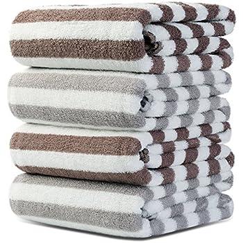 Srotek Premium Cotton 4 Piece Bath Towels Set,Ultra Soft / Highly Absorbent Bath  Towel Set Of 4,Hotel Quality / Machine Washable Bath Towel For Bathroom ...