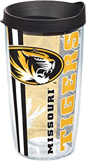 Clear Tervis 1234540 Tennessee Volunteers College Pride Tumbler with Wrap and Black with Gray Lid 24oz Water Bottle