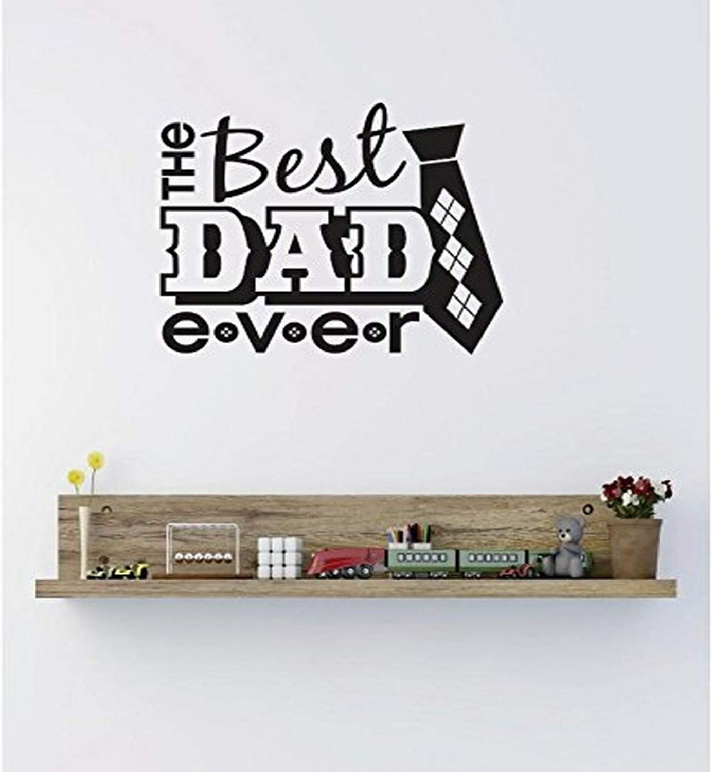 18 x 18 Black Design with Vinyl RE 4 C 2404 The Best Dad Ever Image Quote Vinyl Wall Decal Sticker