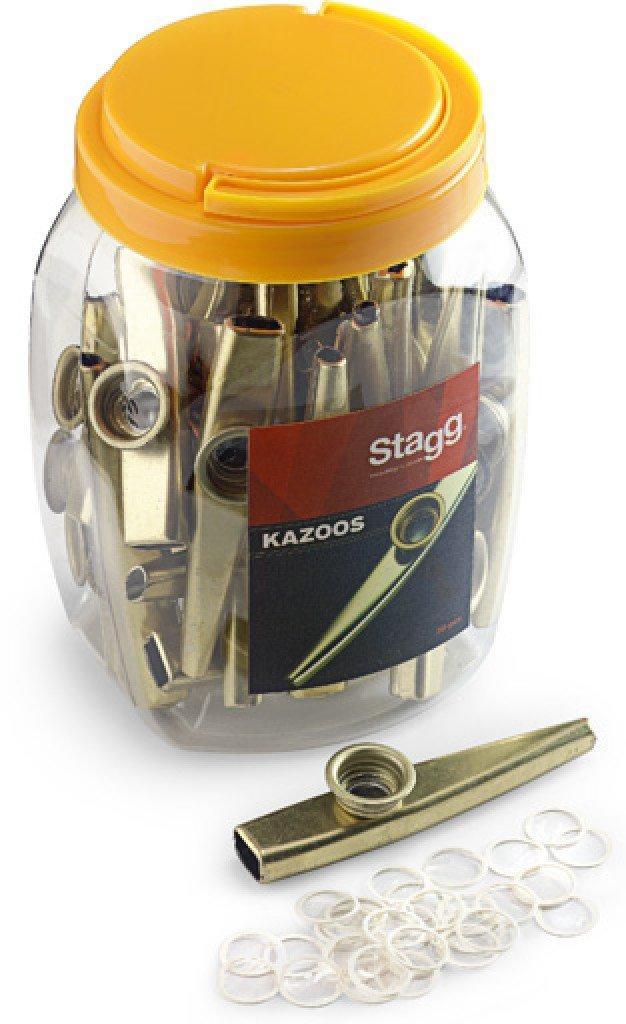 Jar of 30 Stagg Metal Kazoos