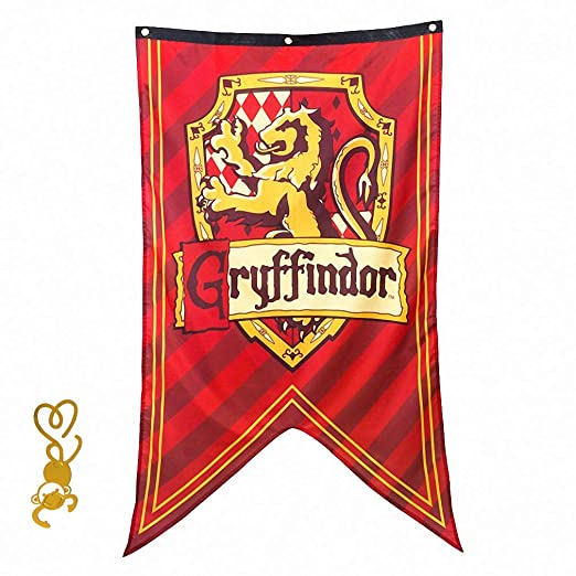 FengHuiCartoon [125CM X 70CM Cartel de Pared de Gift for Harry Banner Potter, Gryffindor Banderas para la decoración de la Fiesta Bar House