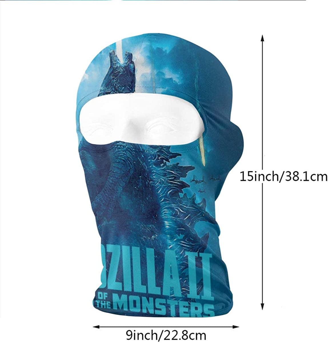 Godzilla Unisex Fashion Cozy Trendy Very Soft And Close To The Skin Face Bandanas Head Band Wears Scarf Face Tube Neck Scarf