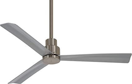 Minka aire f786bnw simple 44 ceiling fan brushed nickel wet minka aire f786bnw simple 44quot ceiling fan brushed nickel wet finish aloadofball Choice Image