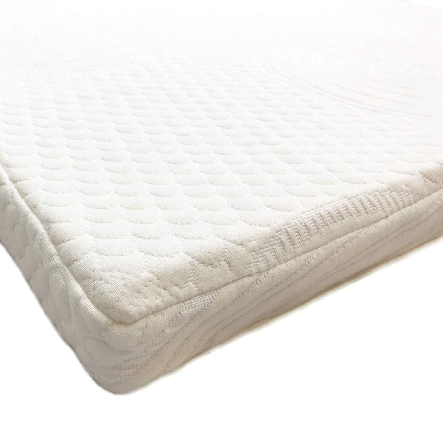 OrganicTextiles 100 Natural Latex Mattress Topper Queen Size, 6 Inch, Medium Firm , Premium Organic Cotton Cover Protector