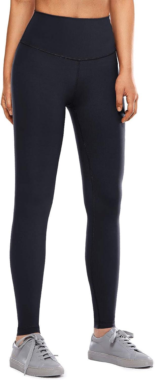 CRZ YOGA Mujer Tight Deportivas Leggins el/ásticas Cintura Alta para Yoga y Ejercicio-71cm Negro 44