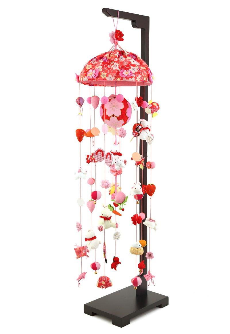 つるし雛 つるし飾り 雛人形 コンパクト 山陽美工 桜うさぎ 大 台付 h273-sb-tr-r501s   B00RYNGCVC