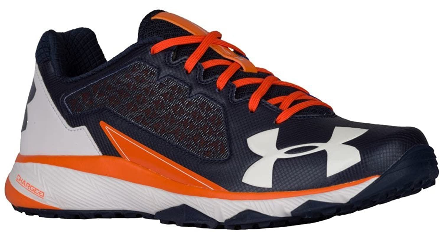 [アンダーアーマー] Under Armour Deception Trainer メンズ ベースボール Navy/Orange/White US11.5 [並行輸入品] B072J37V6D