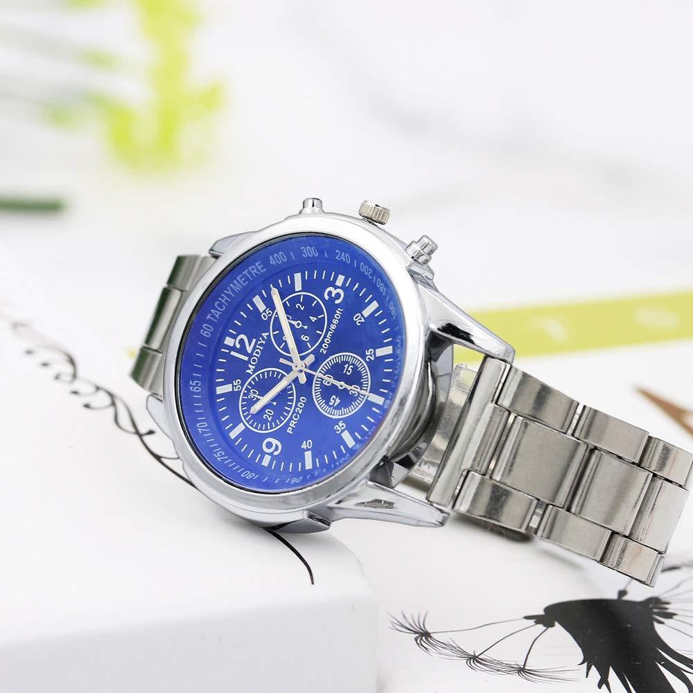MURTIAL Stainless Steel Sport Quartz Hour Wrist Analog Watch Wrist Watch Fashion Comfortable Wristwatch(Large(Man),Free) by MURTIAL Watch (Image #4)