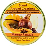 Premium 100% All Natural Soy Tureen Candle - 11 oz. -Mango And Papaya: An uplifting blend of sun-kissed mango and papaya. A very popular fragrance you're sure to love.