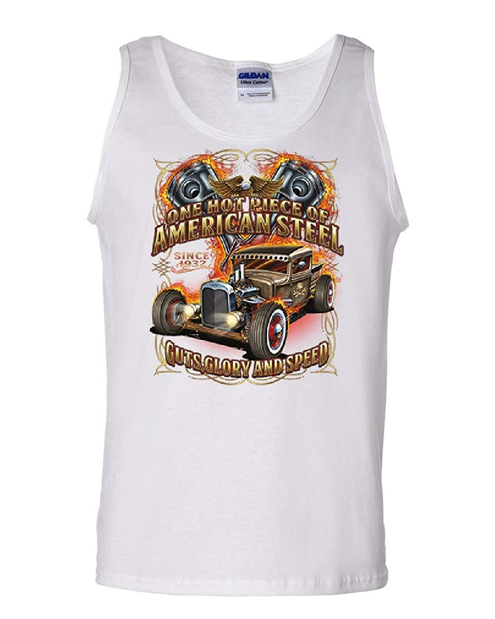 One Hot Piece of American Steel Tank Top Hot Rod Guts Glory Speed Sleeveless