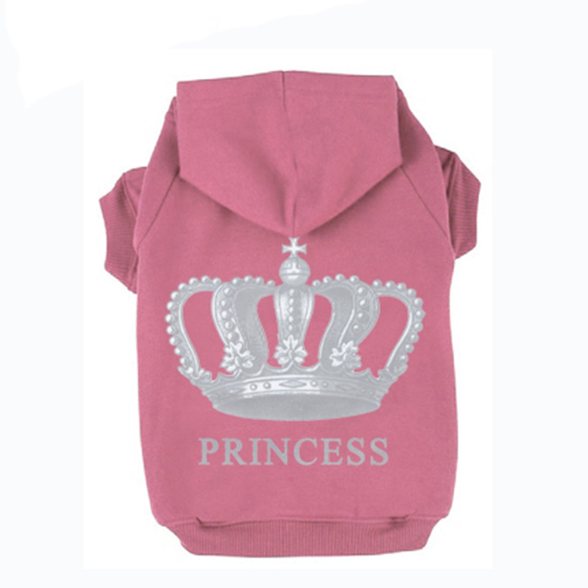 EXPAWLORER Princess Dog Cat Fleece Sweatshirt Hoodies Pink Small HAOBO bvsd