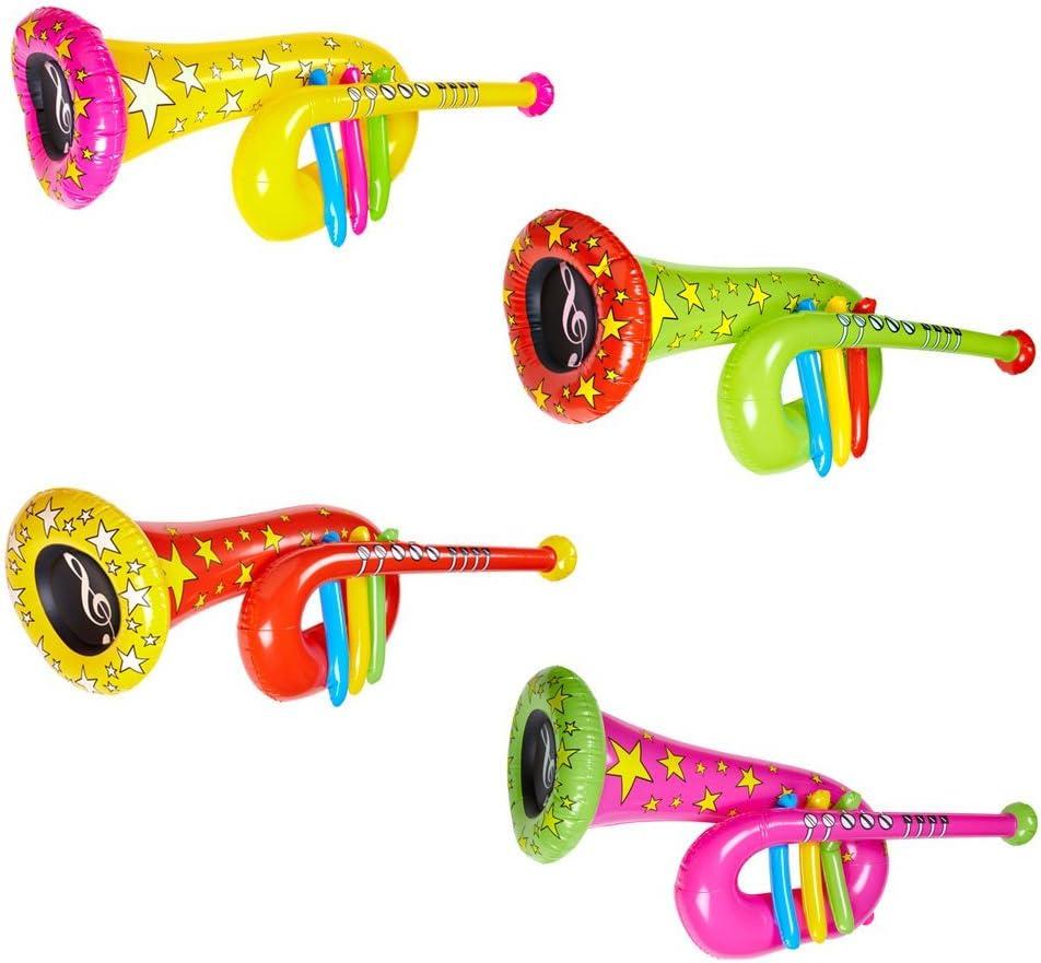 NET TOYS Tuba Gonflable Trompette Clown Vert Cirque Trombone Musique Instrument Gonflable Instrument A Vent Costume Accessoire