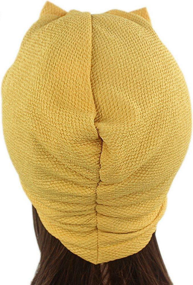 Kopfbedeckung Damen Weich Gem/ütlich Headwear Jungen Schlupfm/ütze Muslimische Chic Turban Chemo Krebs Cap Nachtm/ütze In 8 Farben