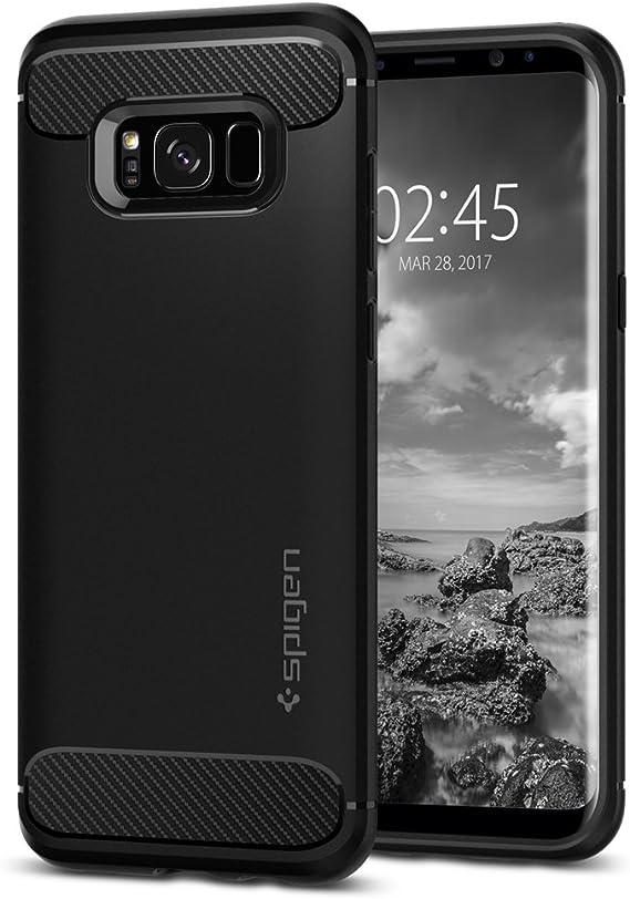 Spigen SGP Rugged Armor Negra para Samsung Galaxy S8 Plus: Amazon.es: Electrónica
