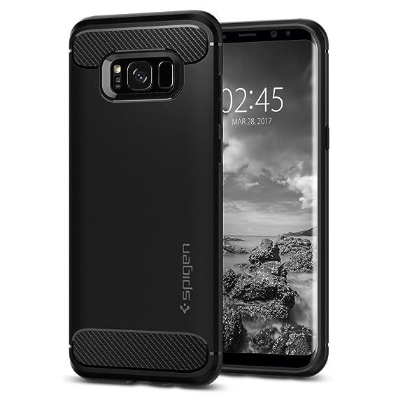 new style c2f01 2d5f1 Spigen Rugged Armor Designed for Samsung Galaxy S8 Plus Case(2017) - Black