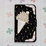 3D Luxury Bling Crystal Diamonds Wallet Crystal Leopard Leather Case Cover For smart Mobile Cell Phone (Motorola RAZR i xt890 / RAZR M xt905 xt907 )