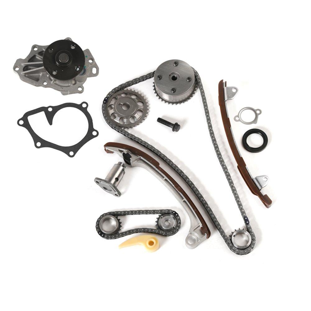 MOCA Timing Chain Kit & Water Pump for 2005-2006 Scion TC & 2001-2009 Toyota Camry Corolla RAV4 Highlander Solara 2.4L L4 DOHC 2AZFE 1AZFE OELINE Auto Parts