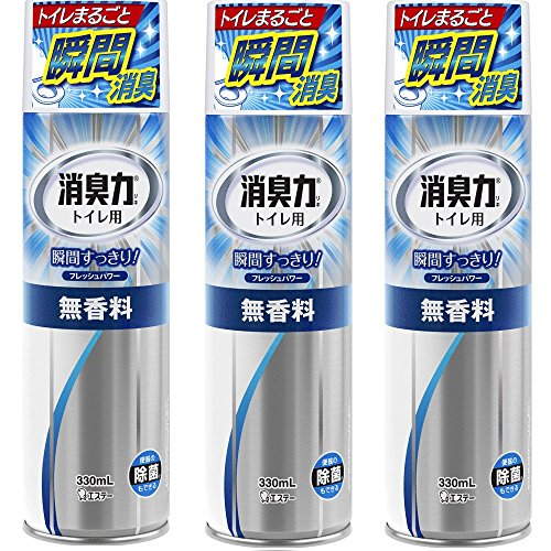 【まとめ買い】 トイレの消臭力スプレー 消臭芳香剤 トイレ用 トイレ 無香料 330ml×3個