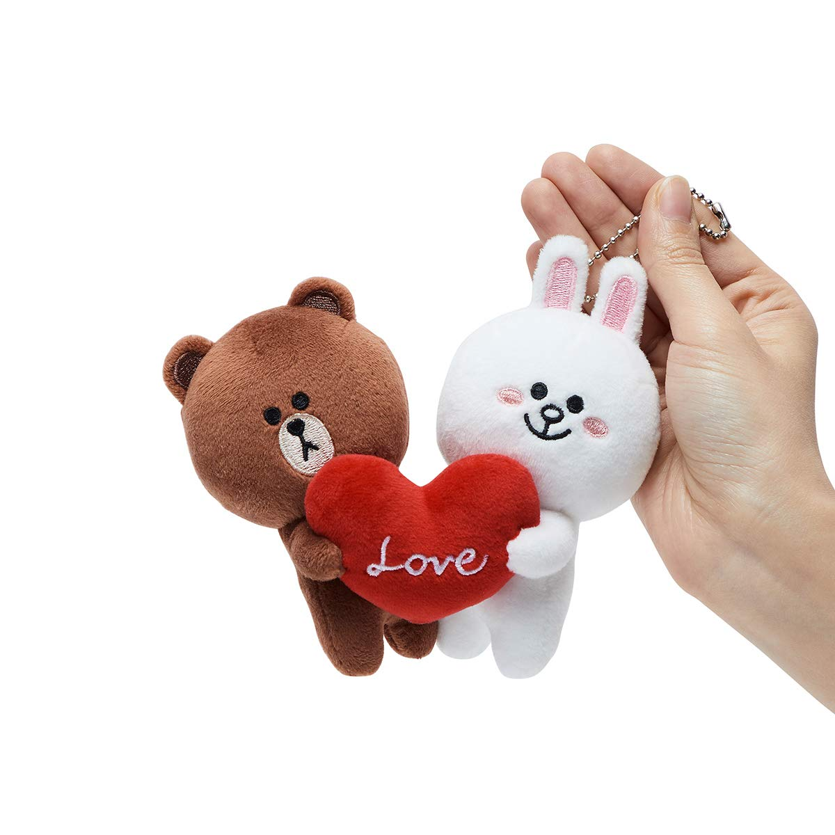 LINE FRIENDS Love Bag Charm - BF Character Keychain Décor 15CM, Brown/White by LINE FRIENDS (Image #2)