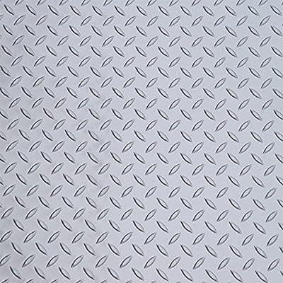 Auto Care Products 82100 Diamond Deck 1 Car Garage Mat Kit with (2ea) 5' x 24' Mats, Battleship Gray