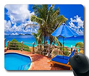 """Mouse Pads / Mouse Mats (0126016)Seaview from the swimming pool Personalized Custom Mouse Pad Oblong Shaped in 220mm*180mm*3mm (9""""*7"""") by icecream design"""