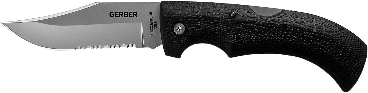 Gerber Gator Folding Knife, Serrated Edge, Clip Point 06079
