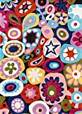 Momeni Rugs LMOTWLMT-5MTI3050 Lil' Mo Hipster Collection, Kids Themed Hand Carved & Tufted Area Rug, 3′ x 5′, Multicolor For Sale