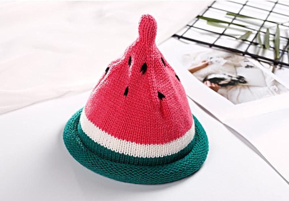 Yellow Red Kids Cute Watermelon Spft Winter Wool Knitted Warm Cap