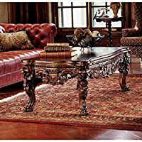 Design Toscano Grand Hall Lion Leg Coffee Table