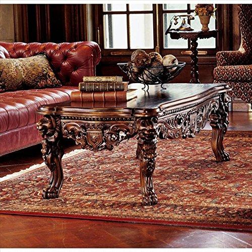 Design Toscano Lord Raffles Grand Hall, Kaffeetisch mit Löwenbeinen
