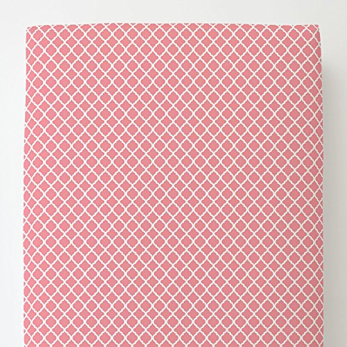 Carousel Designs Watermelon Pink Moroccan Toddler Bed Sheet Fitted by Carousel Designs