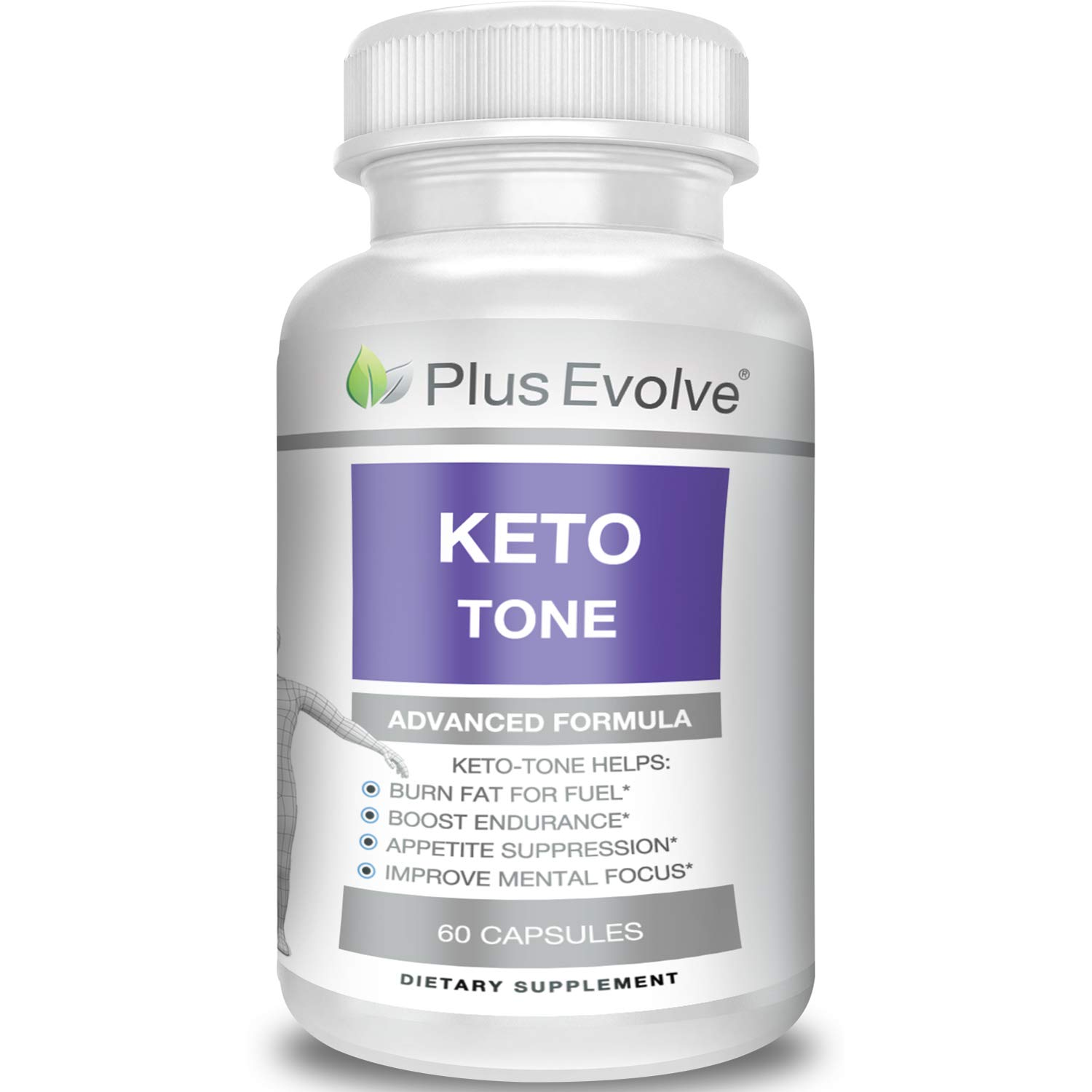 Keto Tone by Plus Evolve | Weight Loss Supplement, Fat Burner Pills, Extra Strength, Appetite Suppressant for Women and Men, Ketosis Weight Loss Pills, Carb Blocker for Ketogenic Diet, 60 ct