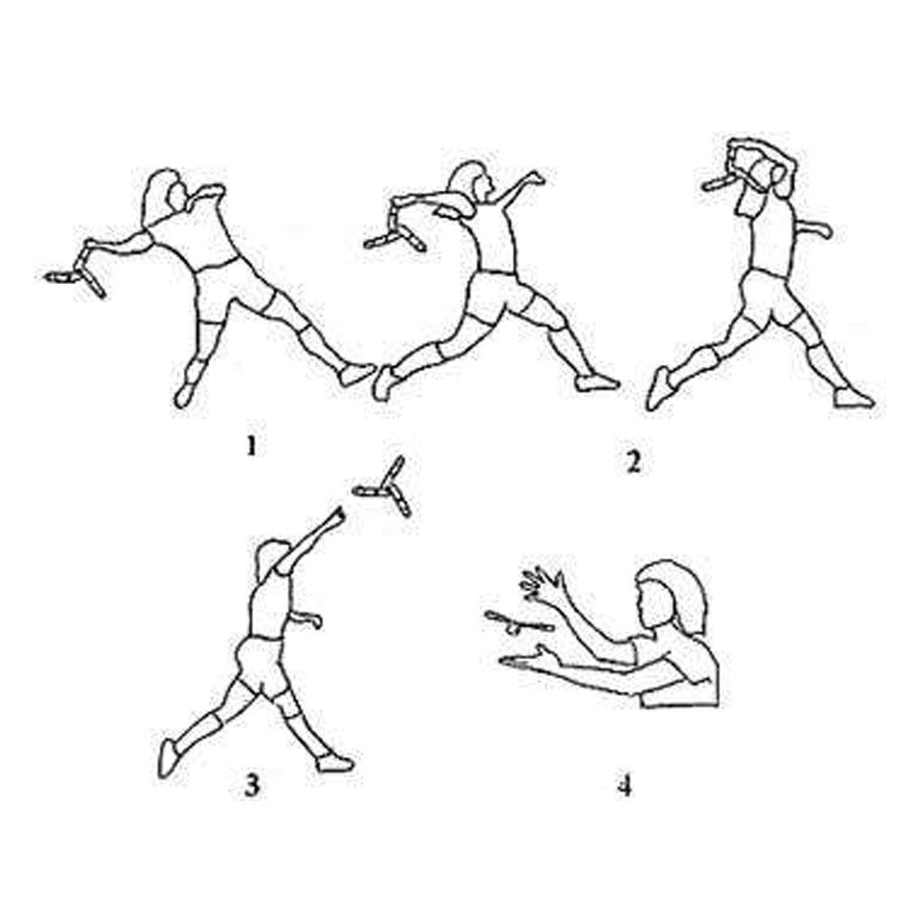 Brown Lunji Boomerang Kangaroo V Forme Jeux de Plein Air pour Enfant Adulte