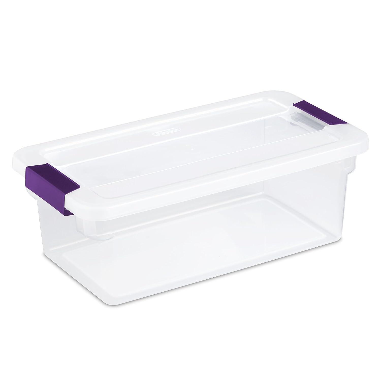 Sterilite 17511712 6-Quart ClearView Latch Box 12-Pack
