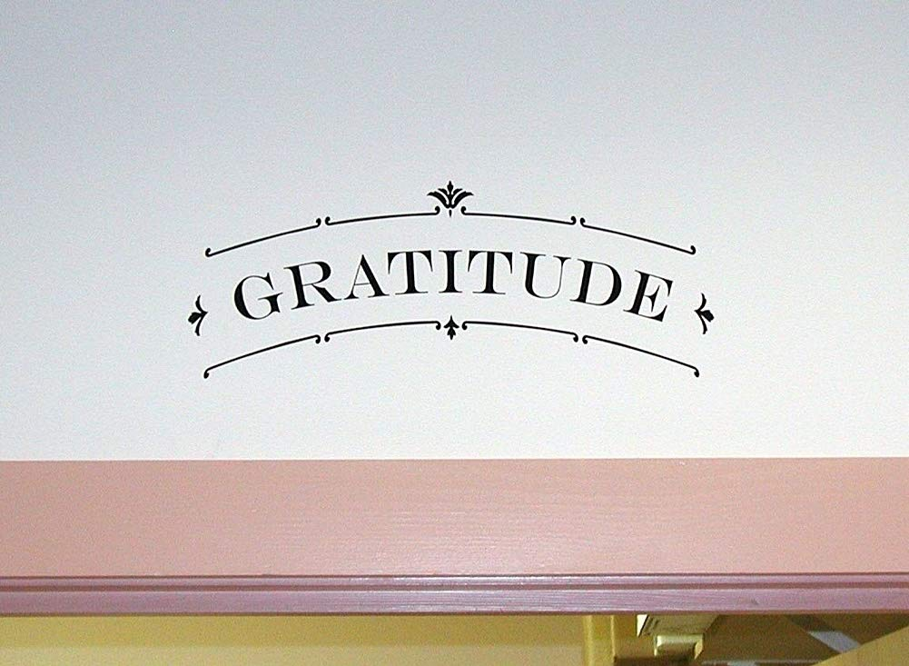 Spk Sticker Gratitude Scroll Wall Art Decal Quote Words Lettering Decor Removable