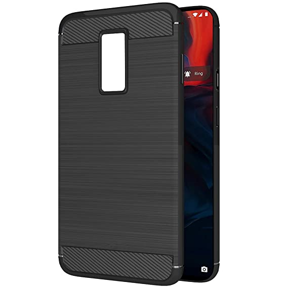check out e48b4 0ade6 Amazon Brand - Solimo Protective Mobile Cover (Soft & Flexible Back Case)  for OnePlus 6 (Black)