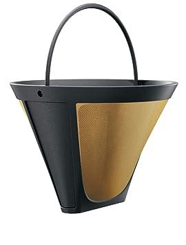 Braun 1 x Filtro 4 Café filtro para máquinas de café dorado tono Filtro permanente: Amazon.es: Hogar